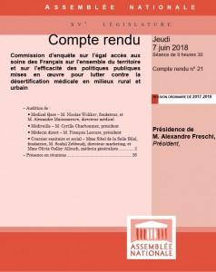 Compte Rendu - Commission Enquete Assemblée Nationale 7 juin 2018